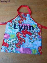 """Kinderschortje """"Lynn"""", gemaakt op bestelling."""