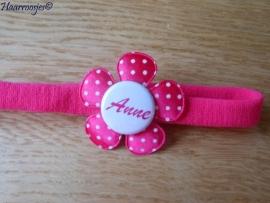 (Baby)haarbandje smal met naam - Anne