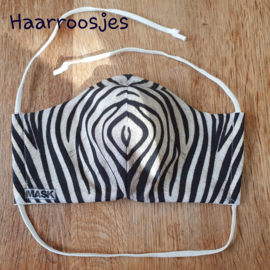 Mondkapje, zebraprint. (M)
