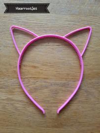 Haardiadeem met kattenoortjes, roze.