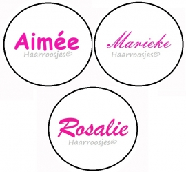 Naamproduct Aimée, Marieke, Rosalie - wit