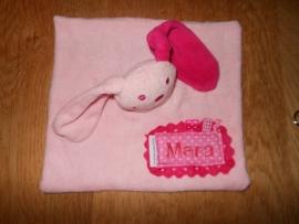 Tutpopje lichtroze, met fuchsia roze oor, extra luxe!