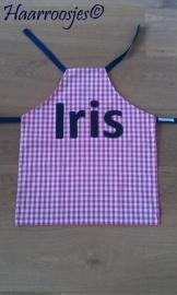 """Kinderschortje """"Iris"""", gemaakt op bestelling."""