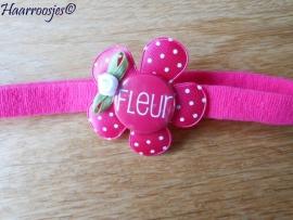 (Baby)haarbandje smal met naam - Fleur