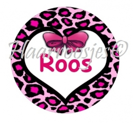 "Flatback met naam ""Roos""."