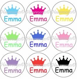 """Flatback met naam """"Emma""""."""