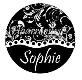 "Flatback met naam ""Sophie""."