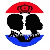 Silhouet koning en koningin