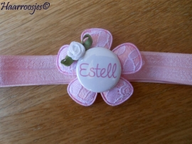 (Baby)haarbandje met naam - Estell en Liva