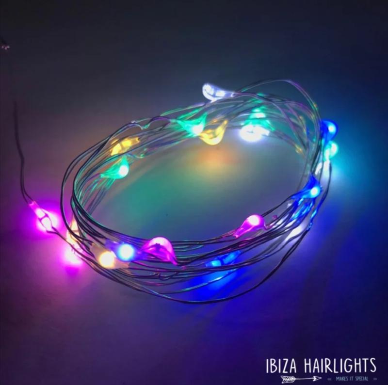 Ibiza hairlights, multi.