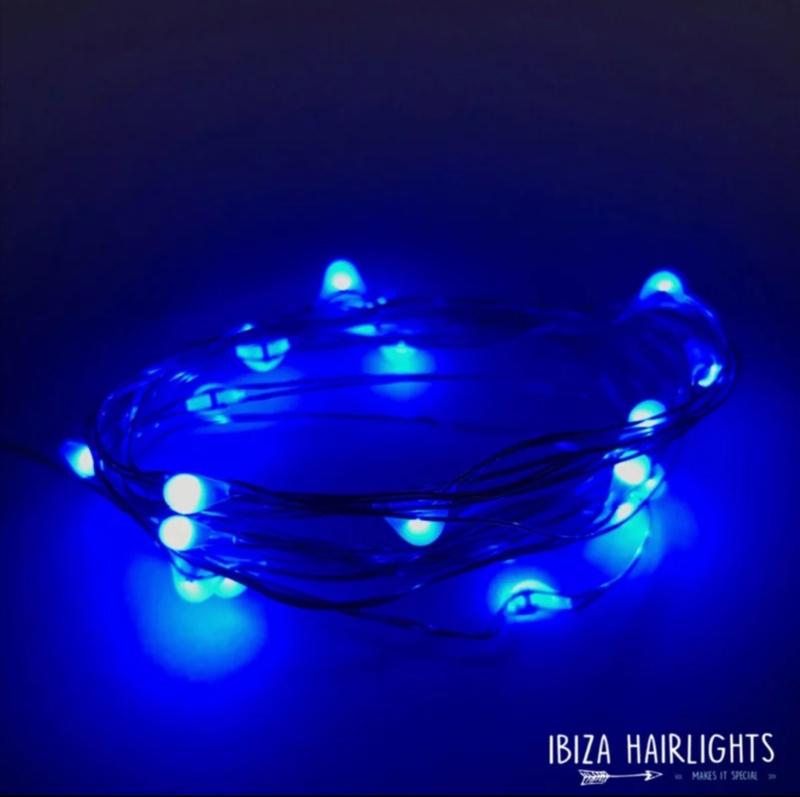 Ibiza hairlights, blauw.