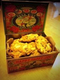 Havermout cookies met witte chocolade