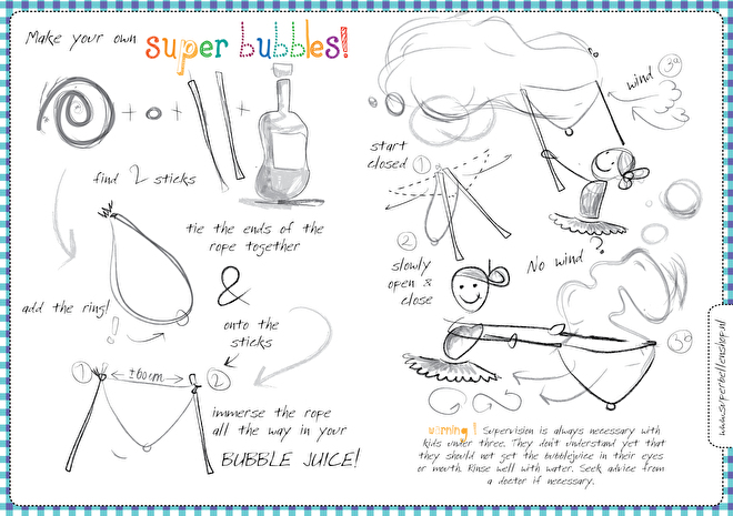 Super bubbles instructions