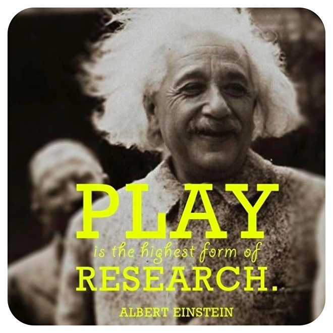 Einstein play is the highest form of research
