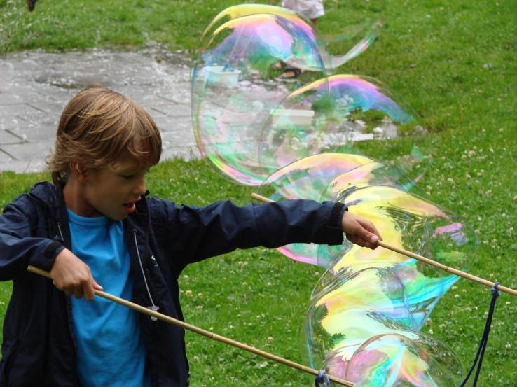kinderfeestje superbellen jongen 5 jaar