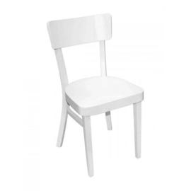 Horeca stoel - Brussel - Wit - Hout