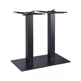 Bartafel , zwart,  120x50cm, blad naar keuze