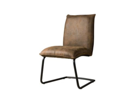 PINTO SIDECHAIR - FABRIC YBF-95 DARK BROWN