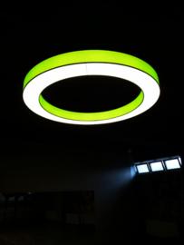 Donutlamp Adonis,  lampenkap met  LED-platine  200cm, groen