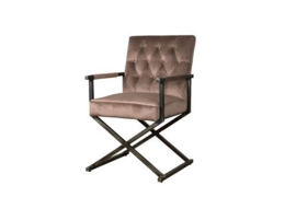 OLDHAM ARMCHAIR - FABRIC GENOVA OUD ROSE 700