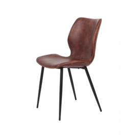 Horeca stoel - Nicolas - PU Leer / Staal - Cognac