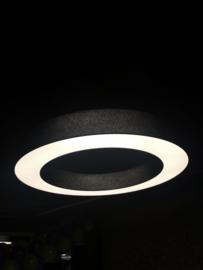 Donutlamp Adonis,  lampenkap met  LED-platine  150cm, zwart