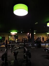 hanglamp Adonis,  lampenkap  80cm, met 3xE27 Corepro LED,  groen