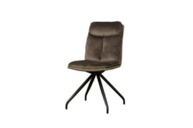 ROTA SWIVEL SIDECHAIR - LUSH 822-227 BROWN