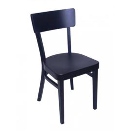 Horeca stoel - Brussel - Zwart - Hout