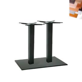 Tafel TR12503, zwart,  80x60cm, blad naar keuze