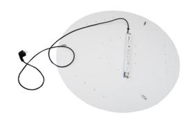 hanglamp Adonis,  lampenkap met  LED-platine  80cm, groen