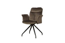 ROTA SWIVEL ARMCHAIR - LUSH 822-227 BROWN