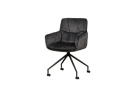 SARONNO ARMCHAIR - FABRIC DARK GREY YC1939-15