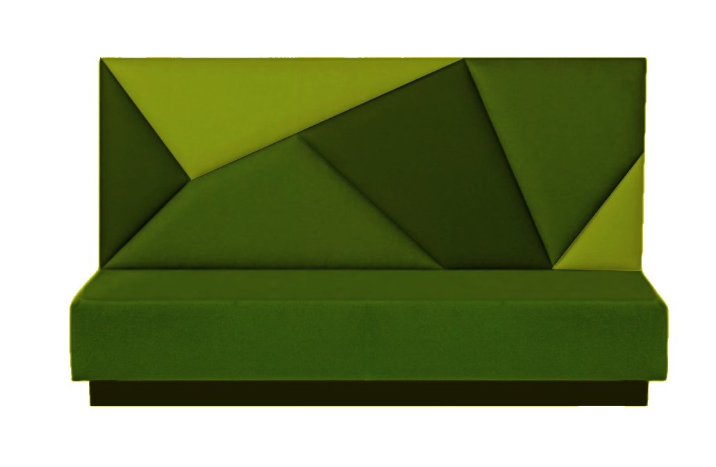 Treinbank patchwork groen