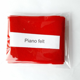 Vilt | Steinway rood