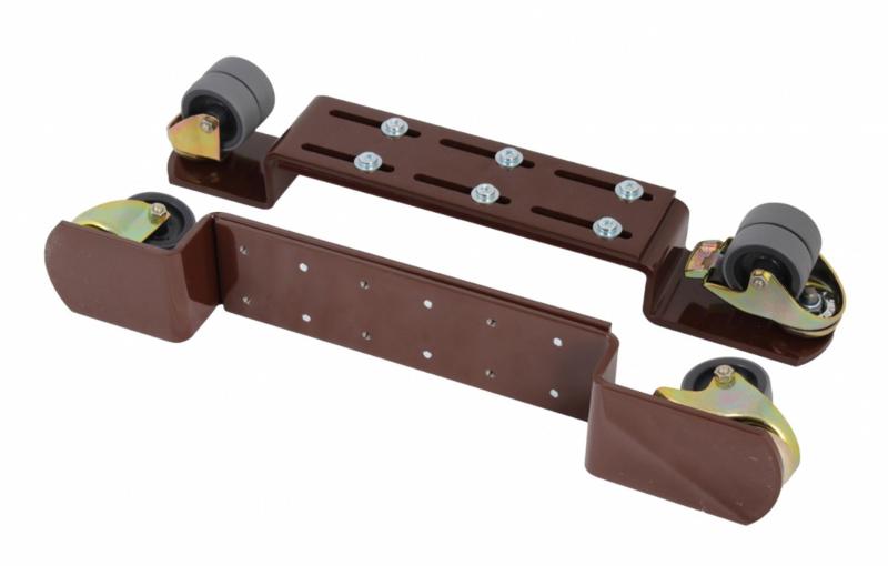 Pianowielen bruin PU wiel, ook voor parketvloeren