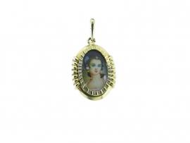 gouden hanger met klein diamantje 16047783-24