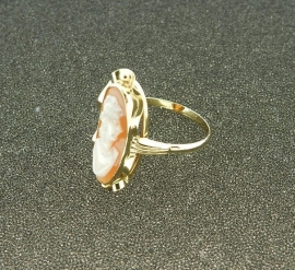 Gouden camee ring 153181685-27