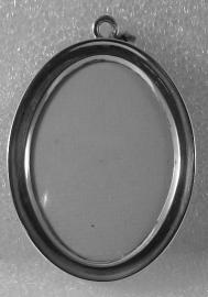 zilveren ovale fotolijst 12801