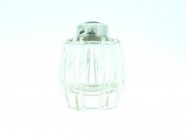 zoutvaatje glas met zilveren dop 29002