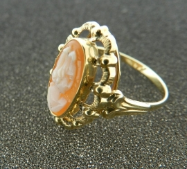 Gouden camee ring 153128681-29