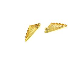 Gouden vleugel oorknoppen 161991