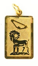 """gouden hanger/plaatje """"Ram"""""""