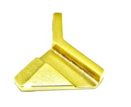 """gouden hanger """"driehoek"""""""