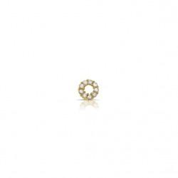 Dancing ring verguld zirconia kleinste