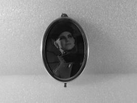 zilveren ovale fotolijst IZ221