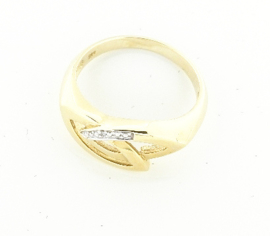 Gouden damesring met diamant