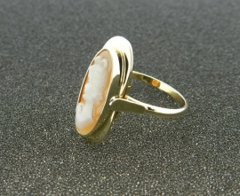 Gouden camee ring 153118684-33