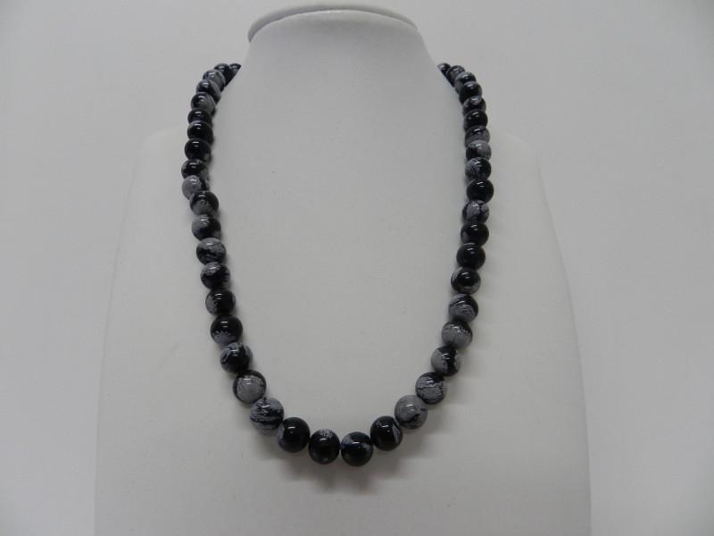 "edelsteen collier ""obsidiaan"""