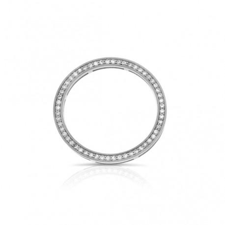 Dancing ring zilver met zirconia groot